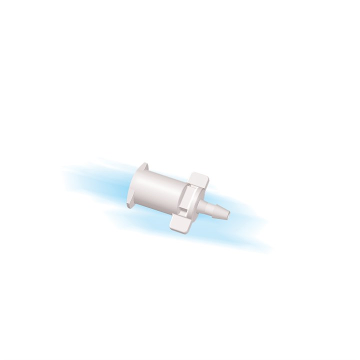 "Female Slip Luer to 1/16"" Barb (1.5mm) ID Tubing"