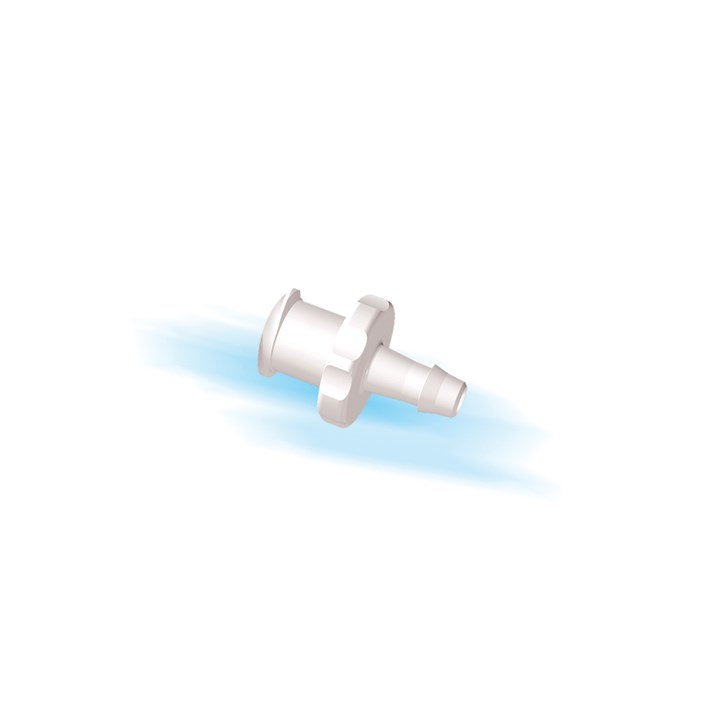"Female Luer Lock to 1/8"" High Flow Barb (3mm) ID Tubing"