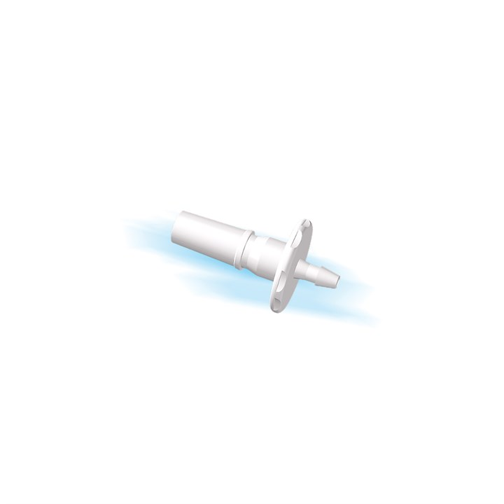 "Rotating Male Luer to 1/16"" Barb (1.5mm) ID Tubing"